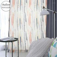 Rideaux de couleur de couleur moderne pour les rideaux colorés de chambre à coucher pour la chambre de la chambre pour enfants Drapé1