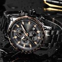 Saatı 2021 Lige Erkek Saatler Top Erkekler Su Geçirmez Spor İzle Tüm Çelik Büyük Arama Kuvars Saat + Kutu Reloj Hombre