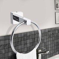 Hooks Rails 4PCS toalett-rull-pappershållare-handduk-ring rostfritt stål-enkelhandduk-bar-robe-krok-badrum-hårdvara-tillbehör-set-