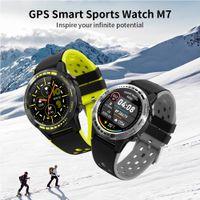 M7 الذكية ووتش Smartwatch GPS للرجال البوصلة بارومتر الارتفاع الرياضة في الهواء الطلق المرأة بلوتوث استدعاء الساعات