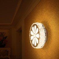 Duvar lambası modern yaratıcı led fikstür sundurma ışık yatak odası basit oturma odası koridor ışıkları kristal