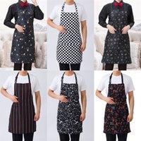 مطبخ العمل مآزر طهي الملابس جيب شنقا الرقبة المئزر فندق مطعم المنزل الأوساخ والدليل أدوات pinafore النساء الرجال أنيق 4jx n2