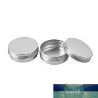 50g x 48 Aluminum Sahneglas 50ml Metall Kosmetik Silber Container Jar Schraubdeckel 2 OZ Alu-Flaschen DIY Leer verpackt Tee-Topf Zinn