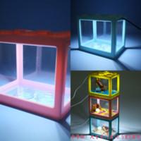 JCryl LED Pesce Sommergibile H AQRIUM Pesce Serbatoio Filtro acqua Fontana LEGO Blocchi Acquari Acquari Paesaggio Pompa Pompa Pompa Pompa Pompa Sump