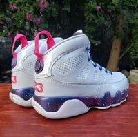 Buon classico bianco JBC9 Mens scarpe da basket High Carino Fashion Pink Multi Color 9s Mens Trainer all'aperto Sneakers sportivi EUR 40-47