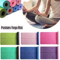 TPE Yoga Çift Katmanlı Kaymaz Mat Yoga Egzersiz Pedi ile Fitness Jimnastik ve Pilates Başlangıç Halı D30 201103