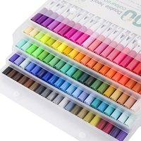 12.11.36.06.06.06.06.80/100 Чернила цветные художественные маркеры маркера набор каллиграфии двойной краской кисти рисунок картина акварель карандашом1