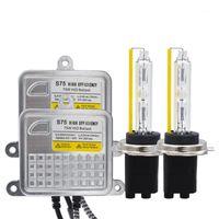 12 V / 24 V Alta potenza 75W DLT S75 HID Ballast H7 HID Xenon Kit 5500K H1 H7 H11 HB3 9012 D2H Bulb75W Fast Bright Ballast Kit1