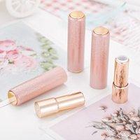 Tarjetas de almacenamiento de botellas de almacenamiento 12.1mm Plástico Redondo degradado Pink Lipstick Tube, Herramienta de maquillaje vacío Paquete de labios profesional, Lip RugeBottle