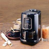 Máquina de café totalmente automática 600ml elegante led fabricante de tela de toque 1-4 xícaras1