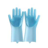 قفازات سيليكون مع فرشاة قابلة لإعادة الاستخدام سلامة سيليكون سيليكون غسيل قفاز قفازات مقاومة للحرارة أداة تنظيف المطبخ HHAA614 28 N2