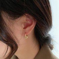Orecchini retrattili dell'orecchio del cerchio del cerchio del cerchio del cerchio del cerchio di Huggie per le donne dell'oro dell'oro unisex doppio orecchino della doppia orecchino femminile brincos