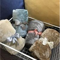 Couverture moelleuse couverture chaude pour adultes et enfants flanelle couverture flanelle couleur solide climatiseur conditionné de contention de genou