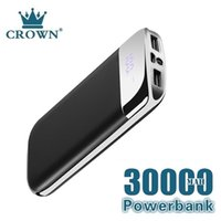 30000mah Power Bank External Battery PoverBank 2 USB LED Powerbank Portable Mobile phone Charger for XiaomiMI iphone7 8 Huawei5G