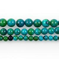 Los granos flojos de 15 pulgadas Cuentas de piedra natural Phoenix Lazurite redondas para la joyería que hace las pulseras diy del collar al por mayor de 6-10 mm