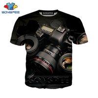 Engraçado 3D Imprimir Câmara Casual Punk Camisa Camisa Película Streetwear Homens Praia Mulheres Moda T-shirt de Harajuku Camisas O Pescoço Pullover Tshirt Y200409