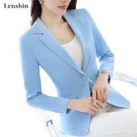 여성 작업을위한 렌즈 캔디 컬러 전문 비즈니스 재킷 착용 사무실 레이디 우아한 여성 블레이저 코트 새로운 톱 201201