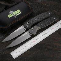 Зеленый шипом 110bd2 лезвие из углеродного волокна + ТС4 титана ручка, фрукты практичный складной нож, на открытом воздухе кемпинга и охоты EDC инструмент