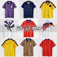 1991 Ecosse rétro Jersey Soccer Jersey Coupe du Monde Home Kits bleu 96 98 Classic Vintage Vintage Écosse Retro Shirt Tops Hendry Lambert
