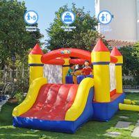 Jardim de casa use bouncers inflável casa saltar castelo saltando slide com ventilador