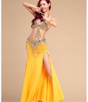 2020 prestazioni Donne Sexy Costumi Danza del ventre Danza Orientale Outfits 3pcs Donne Belly Dance Full Set Bra Cintura Gonna