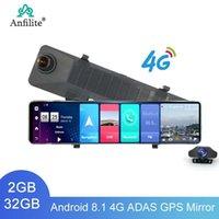 Anfilite 12 inç Dikiz Aynası Araba DVR Dash Kamera 4G WiFi Android 8.1 Araç GPS Navigator 1080P Video Kaydedici Registrar