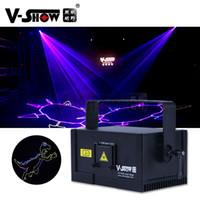 V-SHOW USA倉庫1W新設計RGBアニメーションレーザーライトDMX制御ライティングステージプログラマブルプロジェクターDJバーディスコ