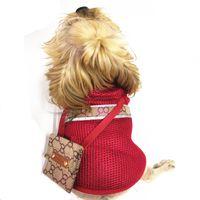 3 estilos Animais de Estimação Vests de Verão Moda Padrão Impresso Pet Jackets Protetor Solcreen Exterior Respirável Teddy Schnauzer Costumes