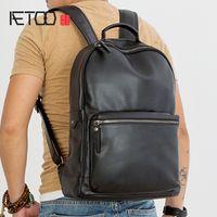 HBP AETOOO Первый слой кожи мужской рюкзак ретро тренд кожа качества рюкзак вскользь компьютерная сумка модный колледж стиль
