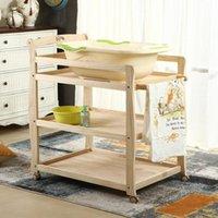 أسرة الطفل 2021 ترقية الصلبة الخشب حفاضات الجدول حمام تخزين خلع الملابس سعة كبيرة متعددة الوظائف