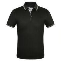 Fashion Mens Polos High Street Casual Short sleeve Designer Polo Shirts Men Polos Casual mens polo shirts T Shirt NO.1S