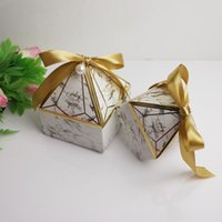 Wedding celebrazione regalo avvolgiti sposa nastro di seta diamanti pagoda a forma di pagoda scatola di caramelle piccolo grande nuovo modello scatola di imballaggio blu vendita calda blu 0