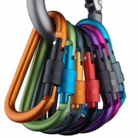 8cm Aluminium-Legierung Karabiner D-Ring Schlüsselanhänger Clip Multi-Color Camping Schlüsselanhänger Karabinerhaken Außen Travel Kit Quickdraws DLH056