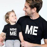 Abiti di abbinamento familiare 1 pz vestiti camicie papà e figlio bambino manica corta t-shirt lettera mini me aspetto papà