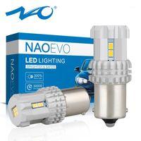 NAO P21W 1156 LED Vit DRL-lampor för auto BA15S Amber 5W 1200LM Motor Automotive Turn Signallampa 12V 6000K Red 3020 SMD1