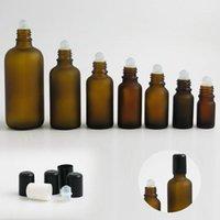 Frost Bernstein Rolle auf Rollflasche für ätherische Öle Nachfüllbare Parfümflasche Deodorant Container 5ml 10ml 15ml 20 ml 30ml 50ml1