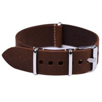 1pc cinturino in vera pelle di alta qualità in vera pelle cinturino da 20 mm 22mm 24mm con fibbia in acciaio inox Watch da uomo Cover1