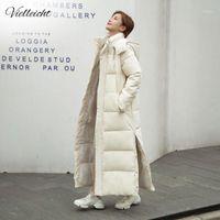 Vielleicht 2020 Новый X-Long Parkas Parkas Мода Зимняя Куртка Женщины Повседневная Толстое хлопок Зимнее Зимнее Пальто Женщины Теплая Воесть1