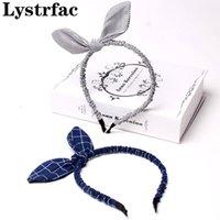 Lystrfac Plip Splide лук кролика уши для волос для женщин мода складки ткань милая головка петля волос женские аксессуары для волос