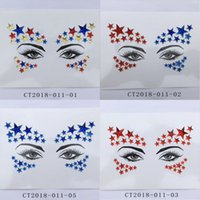 الماس ملصق بريق الكريستال الوشم ملصقات للنساء الوجه الجبين المقرب زينة الزفاف 23 الأنماط RRA3720