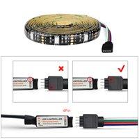 IP20 DC 5V RGB LED bande de lumière USB LED 5050 SMD Tira USB lumière bande Garland Diode Ruban Ruban flexible TV rétro-éclairage décoration lampe