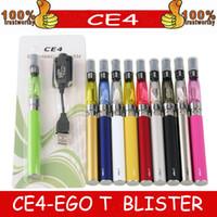 EGO EVOD CE4 Blister Blister Kit Kit 650mAh 900mAh 1100mAh EGO-T Batteria CE4 Atomizer Clearomizer E Kit di sigarette