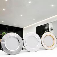 LED Downlight 5W 9W 12W 15W 18W Constituée ronde LED plafonnier AC 165-240V Éclairage intérieur blanc chaud blanc froid