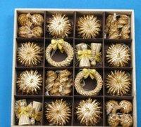 شجرة الحلي مجموعة القمح القش المنسوجة مهرجان الديكور زينة عيد الميلاد للبيع على الانترنت عيد الميلاد الديكور Zgox # bbyhuwp soif