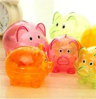 Farbe Piggy Aufbewahrungsgläser Geburtstagsgeschenk Originalität Kinder Transparent Geld Speichern Box Home Tragbare Niedlichen Fall Hohe Qualität 4 1YZ M2