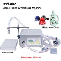150ml-17l semi automático líquido pesando máquina de enchimento de óleo comestível diafragma bomba de frasco de água qh-g62a