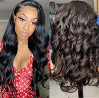 Lace Front Human Hair Wigs Pre Plucked 13x4 Brazilian Loose ...