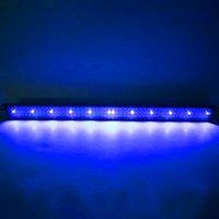Diseño más nuevo 24W 156LED Lámpara de agua de espectro completo 47.2inch Black Aquarium Lights EE. UU. Estándar ZC001222 (adecuado para 47.2-55.1 pulgadas de acuar