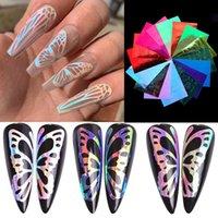 Sfumature Fashion Nail Sticker farfalla tipo di fiamma del modello multi Lady colori Manicure Decor decalcomanie Chiodi arte autoadesivi della decorazione 4 9LF L2