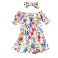 Baby Girl Designers Clothes Children' s floral Rompers 1...